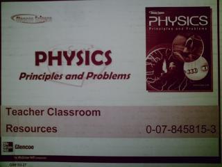 Physics Principles & Problems Teacher Classroom Resources ...