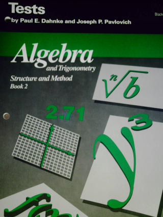 algebra trigonometry structure method book 2 tests blm p 0395591228 k 12. Black Bedroom Furniture Sets. Home Design Ideas