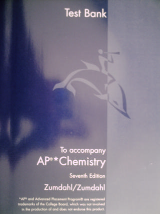Chemistry 7th Edition AP Edition Test Bank (P)