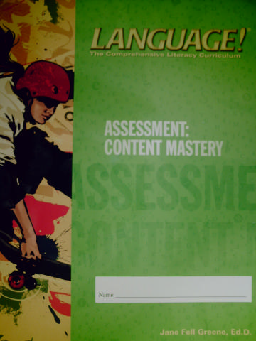Language! 3rd Edition C Content Mastery (P) by Greene
