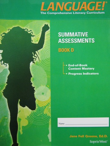Language! 4th Edition D Summative Assessments (P) by Greene