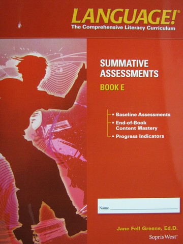 Language! 4th Edition E Summative Assessments (P) by Greene