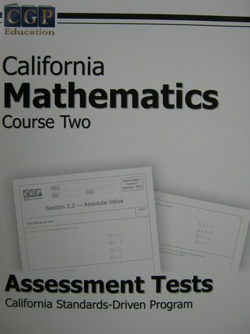 CGP California Mathematics Course 2 Assessment Tests (Spiral)