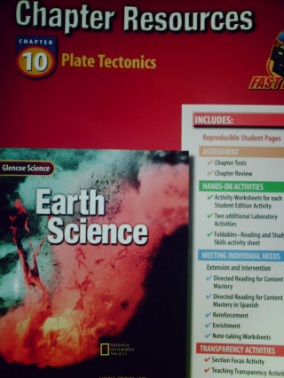 earth science chapter resources 10 plate tectonics p 0078269407 k 12 quality used. Black Bedroom Furniture Sets. Home Design Ideas
