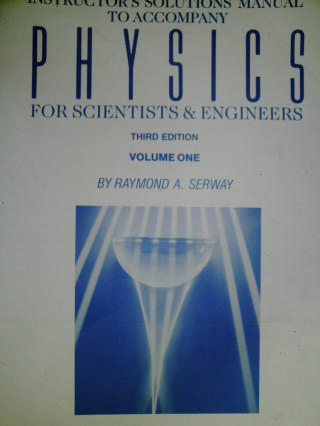 Physics for Scientists & Engineers 3rd Edition Volume 1 IM (P)