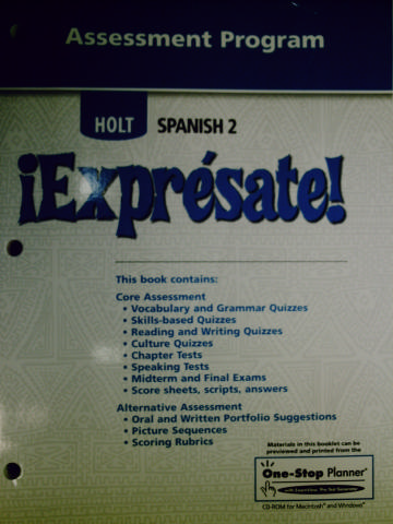 Worksheets Holt Spanish 2 Workbook Answer Key expresate 2 assessment program p by marci reed 0030744164 reed