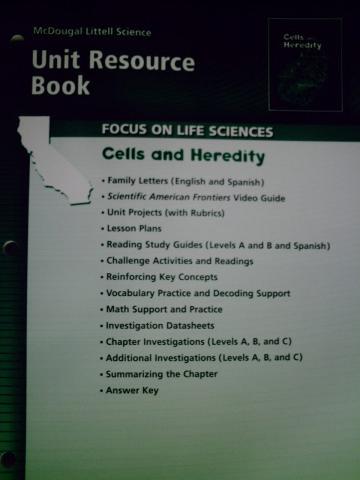 focus on life sciences cells heredity unit resource ca p 0618707905 k 12. Black Bedroom Furniture Sets. Home Design Ideas