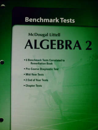 ML Algebra 2 Benchmark Tests with Answer Key (P)