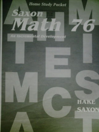 Saxon Math 76 Home Study Packet Answers (P)