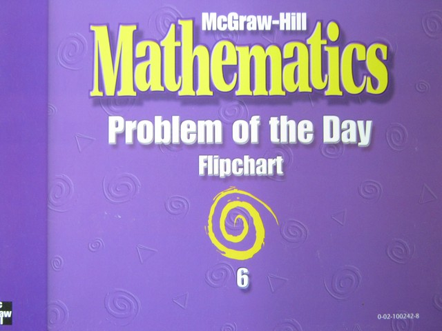 McGraw-Hill Mathematics 6 Problem of the Day Flipchart (Spiral)