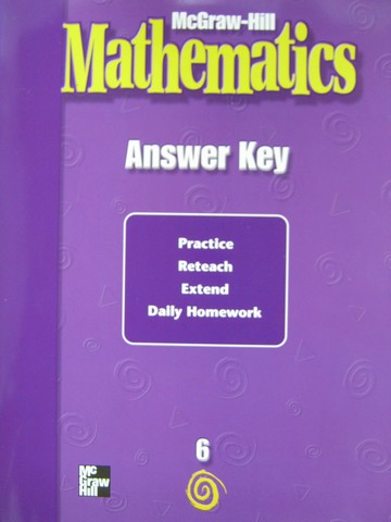 McGraw-Hill Mathematics 6 Answer Key (P)