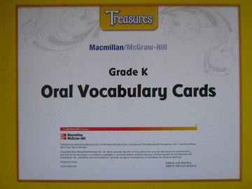 Treasures K Oral Vocabulary Cards (Pk)