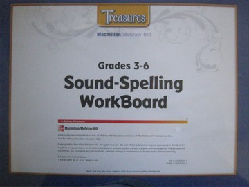 Treasures Grades 3-6 Sound-Spelling Workboard (Pk)