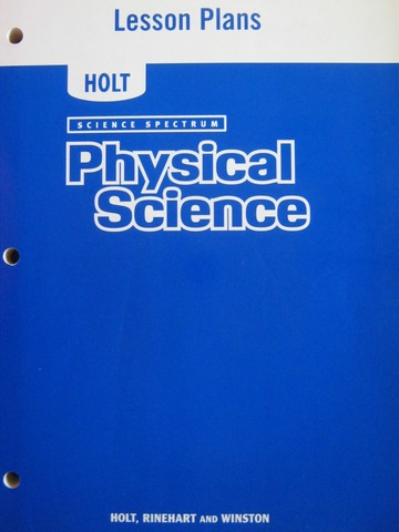 Science Spectrum Physical Science Lesson Plans (P)