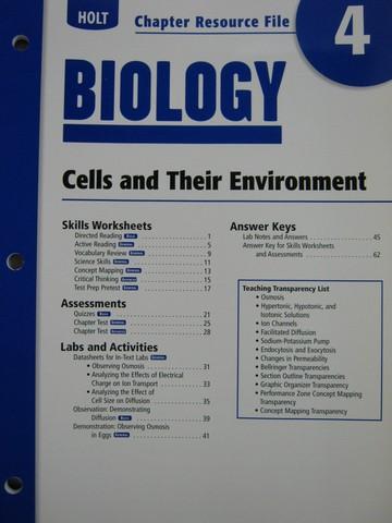 holt biology chapter resource file 4 p 0030413648 k 12 quality used textbooks. Black Bedroom Furniture Sets. Home Design Ideas