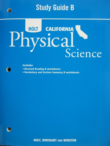california physical science study guide b ca p 0030464935 k 12 quality used. Black Bedroom Furniture Sets. Home Design Ideas