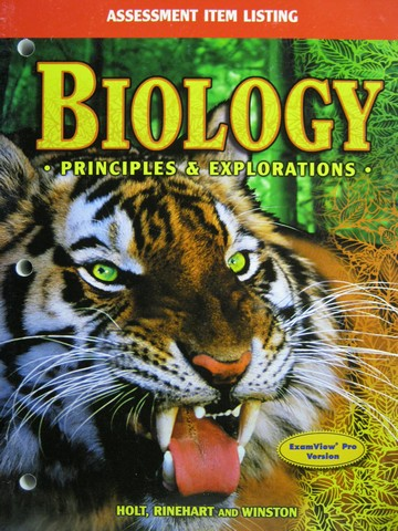 Biology Principles & Explorations Assessment Item Listing EV (P)