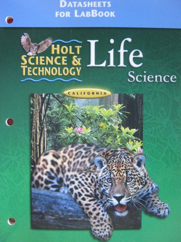 Holt Life Science DataSheets for LabBook (CA)(P)