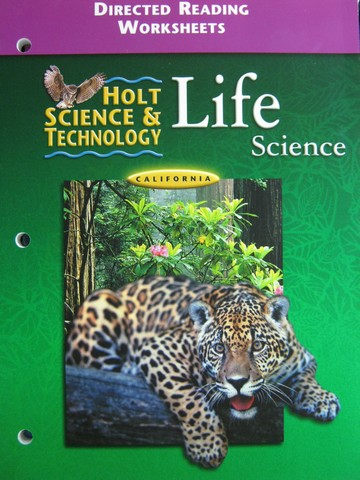 Holt Life Science Directed Reading Worksheets (CA)(P)