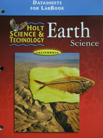 Holt Earth Science Datasheets for LabBook (CA)(P)