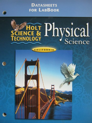 Holt Physical Science DataSheets for LabBook (CA)(P)