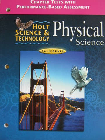 Holt Physical Science Chapter Tests (CA)(P)