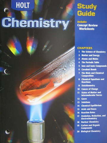 Solutions to Holt Chemistry Study Guide (9780030667428 ...