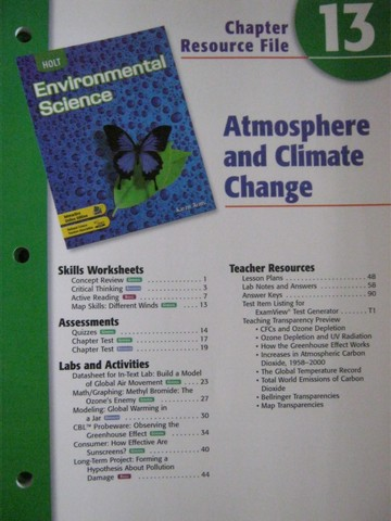 Holt Environmental Science Critical Thinking Answers