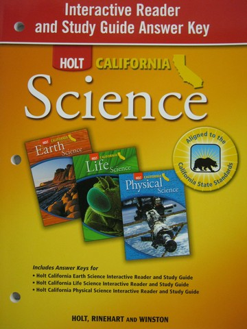 California Science Interactive Reader & Study Guide Answer (P)