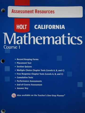 California Mathematics Course 1 Assessment Resources (CA)(P)
