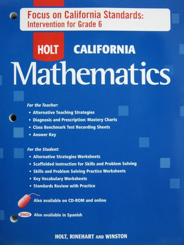 California Mathematics Course 1 Intervention (CA)(P)