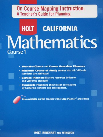 California Mathematics Course 1 On Course Mapping (P)