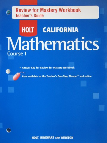 California Mathematics Course 1 Review for Mastery TG (TE)(P)