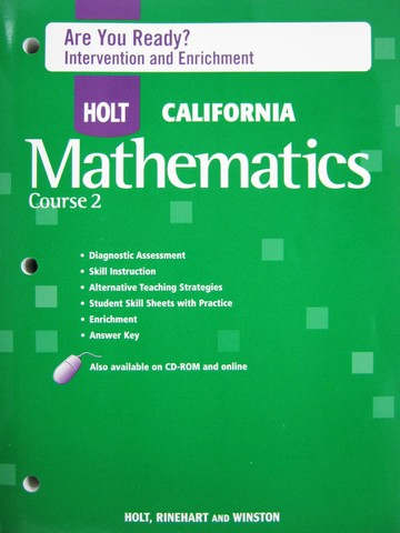 California Mathematics Course 2 Are You Ready? (CA)(P)