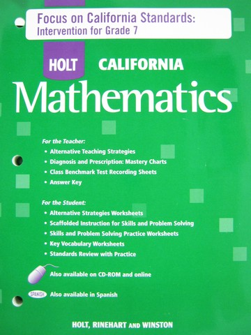 California Mathematics Course 2 Focu on California (CA)(P)