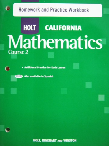 California Mathematics Course 2 Homework & Practice (CA)(P)