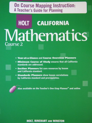 California Mathematics Course 2 On Course Mapping (P)