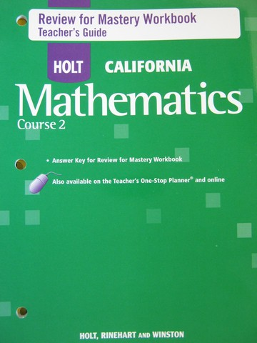 California Mathematics Course 2 Review for Mastery TG (TE)(P)