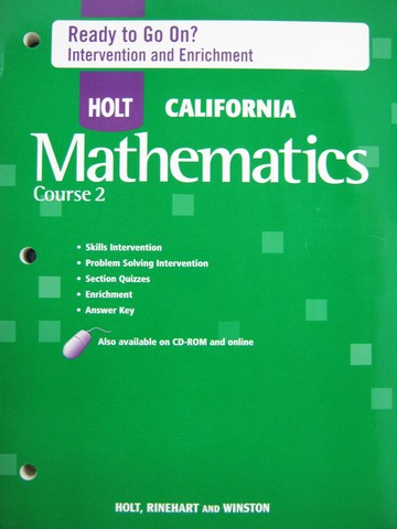 California Mathematics Course 2 Ready to Go On? (CA)(P)