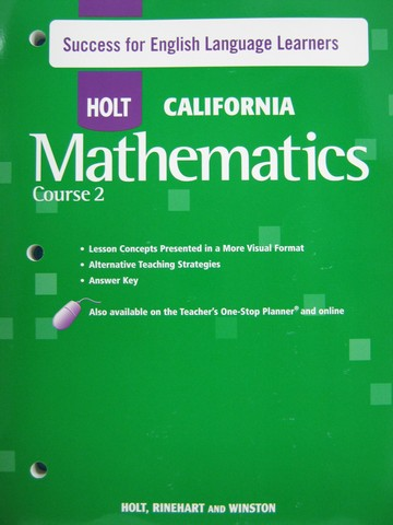 California Mathematics Course 2 Success for ELL (CA)(P)