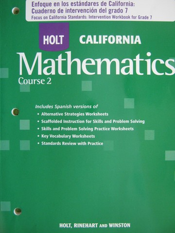 California Mathematics Course 2 Enfoque en los estandares (P)