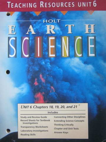 Earth Science Teaching Resources Unit 6 (TE)(P)
