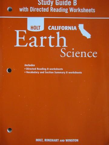 holt earth science directed reading worksheets answer key ca p 0030556783 k 12. Black Bedroom Furniture Sets. Home Design Ideas