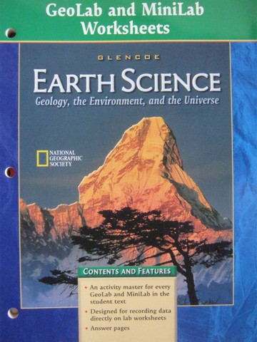 Earth Science GeoLab & MiniLab Worksheets (P)