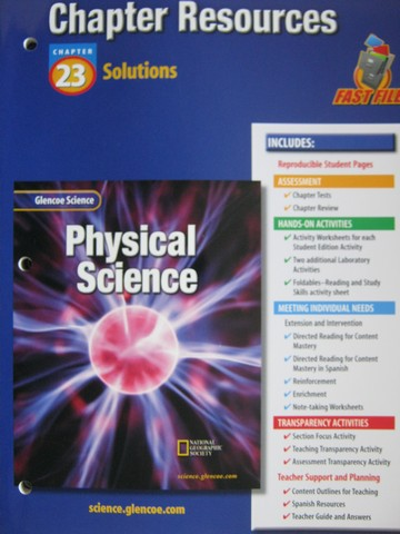 Glencoe Physical Science Chapter Resources 23 Solutions (P ...