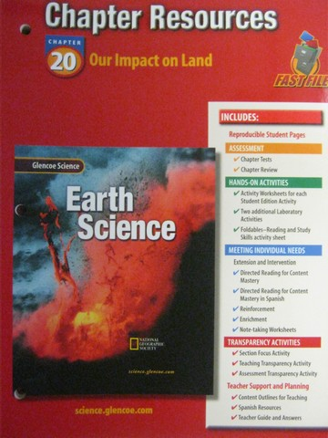 Glencoe Earth Science Chapter Resources 20 (P)