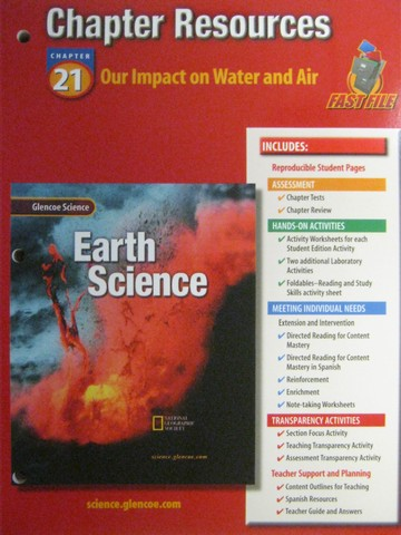 Glencoe Earth Science Chapter Resources 21 (P)