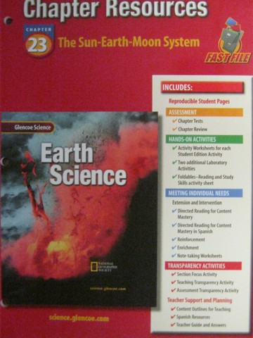 glencoe earth science chapter resources 23 p 0078269547 k 12 quality used. Black Bedroom Furniture Sets. Home Design Ideas