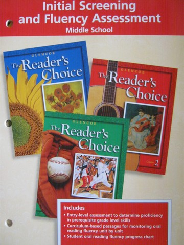 Reader's Choice Middle School Initial Screening & Fluency (P)