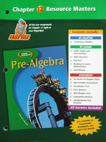 Glencoe Pre-Algebra California Student Edition 2006 by Malloy and Glencoe...